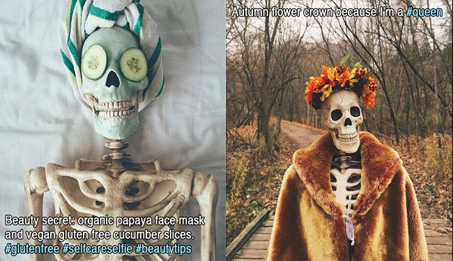 skeleton instagram girls imitation funny - 5735685
