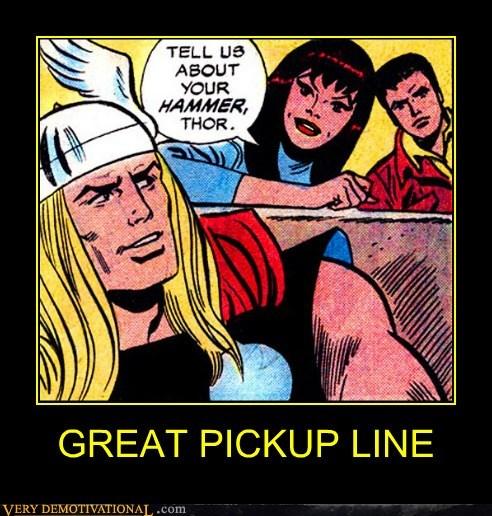 hammer pickup line Super-Lols Thor