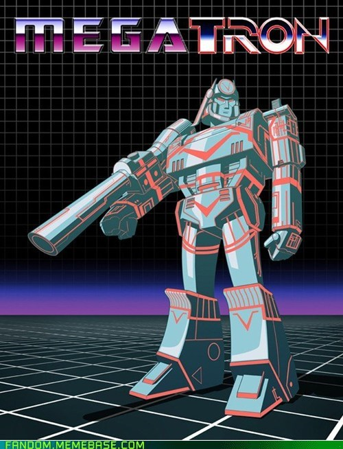 crossover,Fan Art,megatron,tron