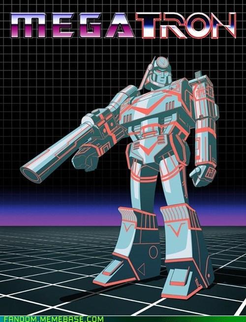 crossover Fan Art megatron tron - 5736668160
