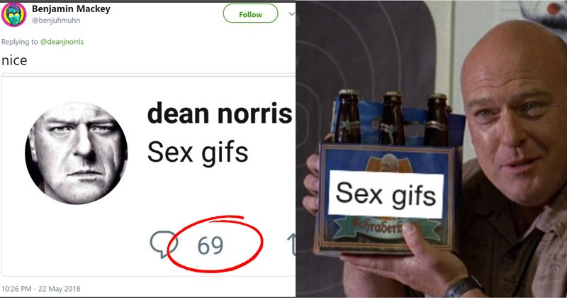 dean norris hilarious tweets search bar mishap sex gifs breaking bad dean norris sex gifs celebrities on the internet porn hank from breaking bad awkward tweets - 5736709