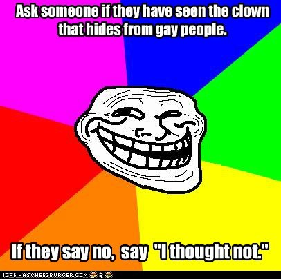 clown,hiding,troll face