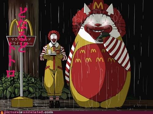 anime,McDonald's,totoro,wtf