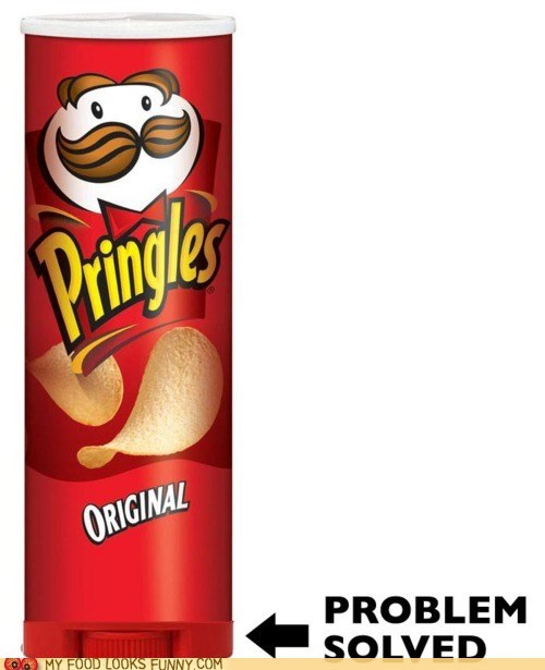 dial,pringles,problem,roll up,solution,tube