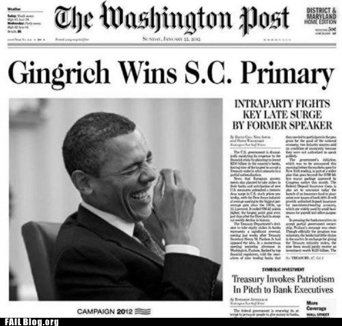 headline juxtaposition news newspaper Photo potus Probably bad News