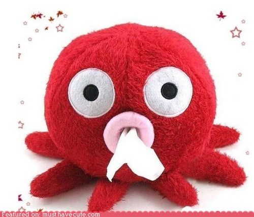 dispenser octopus Plush tissue - 5737351424