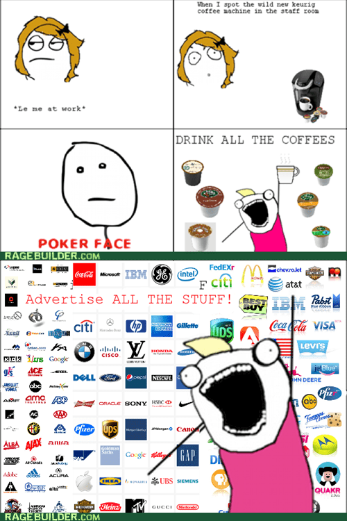 all the things coffee poker face Rage Comics - 5737368064
