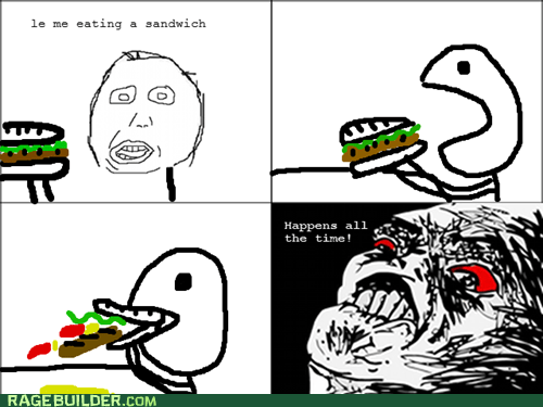 food,Rage Comics,raisin rage,sandwich