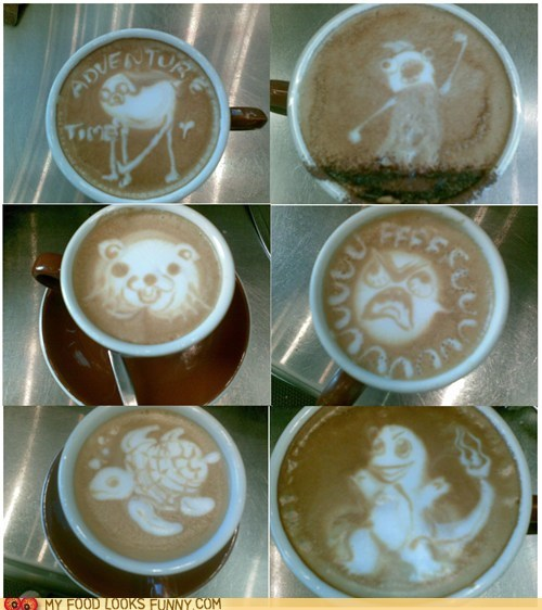 art barista coffee foam latte milk - 5737399808