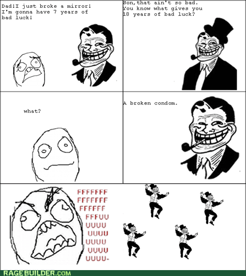 bad luck,best of week,condom,fu guy,Rage Comics,troll dad