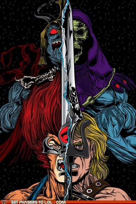 1980s cartoons he man Liono power of grayskull skeletor sword thundera thundercats - 5737438208