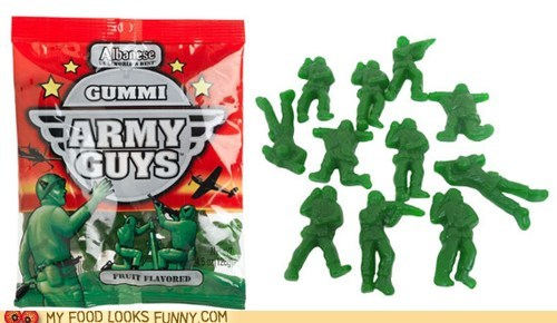 army men green gummy plastic soldiers toys war - 5737442048