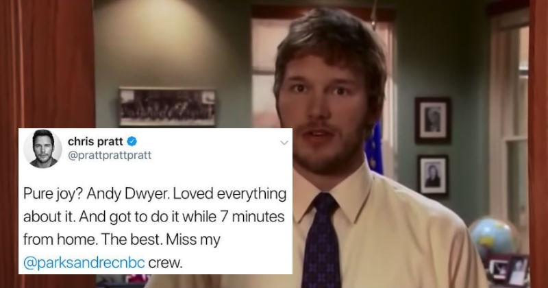 parks and recreation twitter awesome chris pratt tweet television show win the feels - 5737477