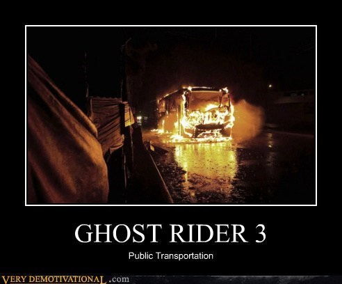 bus,fire,ghost rider,hilarious,Movie