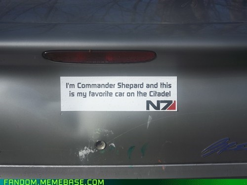 bumper sticker It Came From the Interwebz mass effect video games - 5737567232