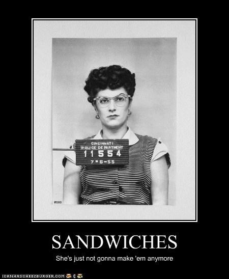 demotivational funny lady mug shot Photo - 5737656320