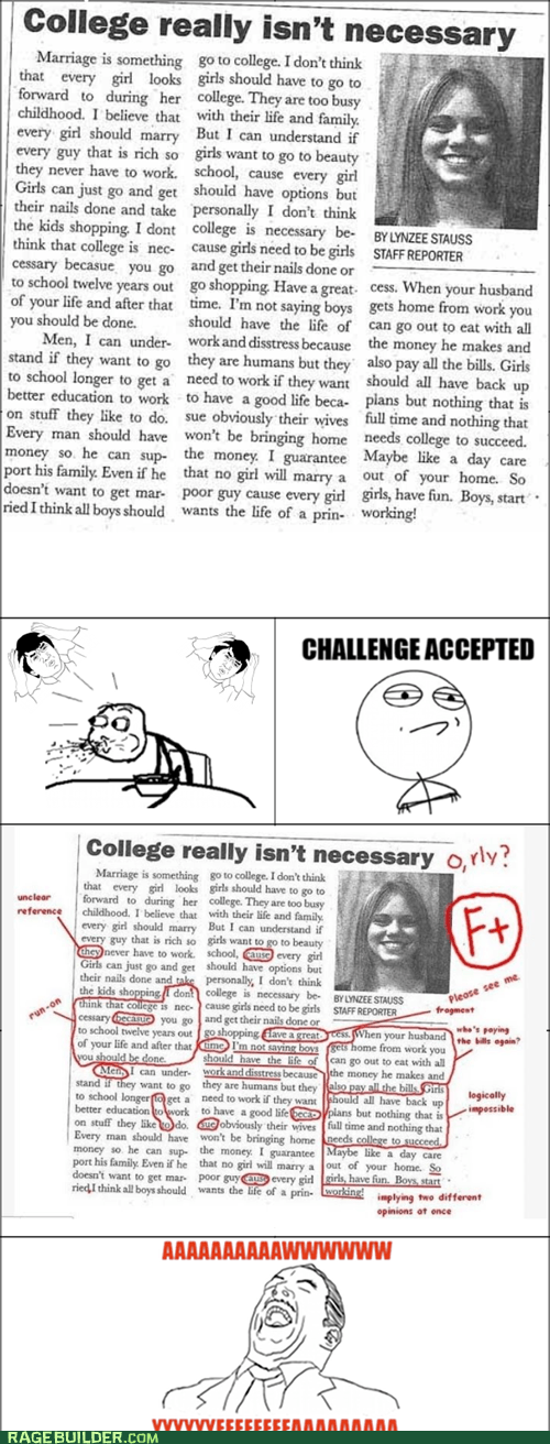 Challenge Accepted college FAIL Rage Comics - 5737825024