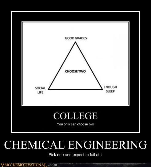 chemical engineering,FAIL,good grades,hilarious