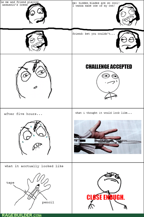 assassins creed Close Enough Rage Comics video games