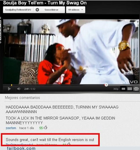 english oh snap soulja boy youtube comments - 5737965824