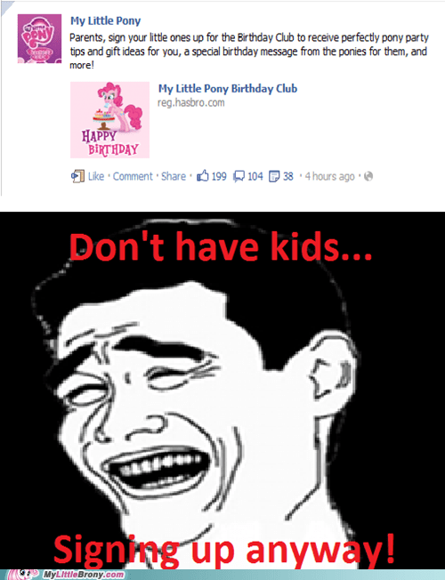 adults birthday Hasbro IRL kids pony club