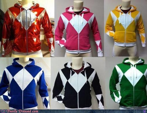 dressed to win,hoodies,power rangers