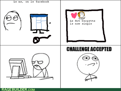 Challenge Accepted,facebook,Rage Comics,relationships