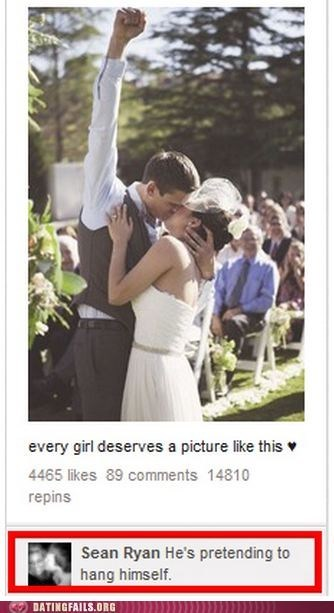 comments,facebook,hanging,KISS,photo op,wedding