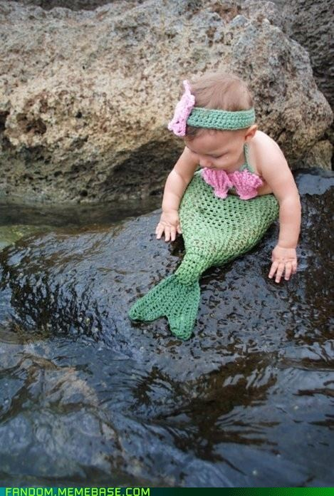 baby best of week Fan Art knit mermaid - 5738803968
