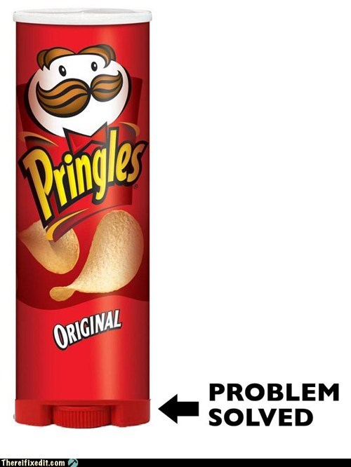 can food g rated junk food pringles there I fixed it twisting
