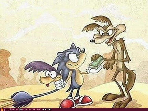 best of week coyote roadrunner sonic the hedeghog wtf - 5739424768