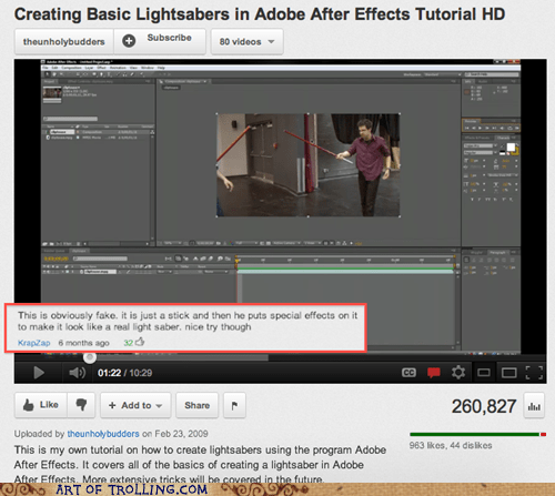 fake lightsaber tutorial youtube - 5739520512