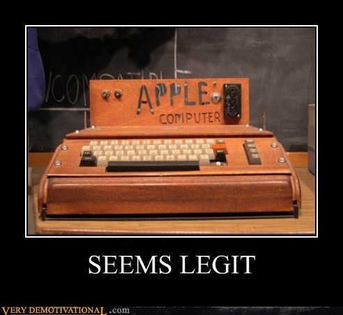 apple computer hilarious lies wood wtf - 5739701248