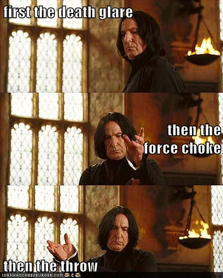 Alan Rickman Death force choke glare Harry Potter snape special throw - 5739772160