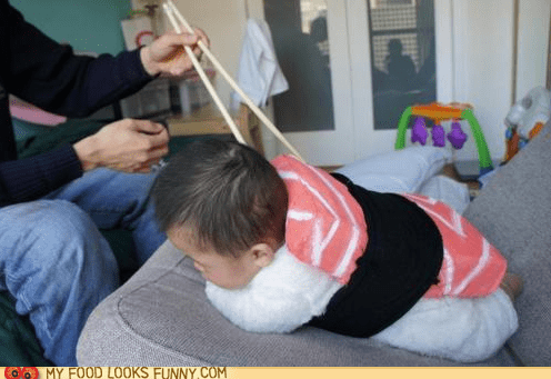 baby chopsticks clothes cute fish sushi