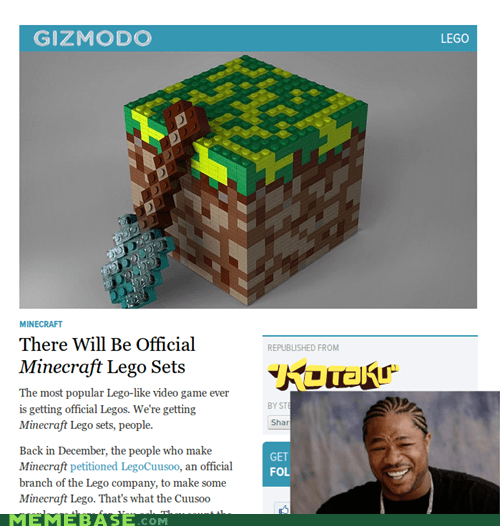 bricks,lego,minecraft,video games,yo dawg