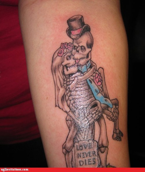 love never dies skeletons wedding day - 5740479488