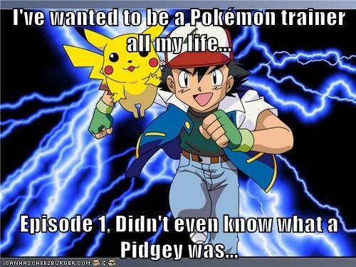 ash episode one Memes name that pokemon pidgey pikachu