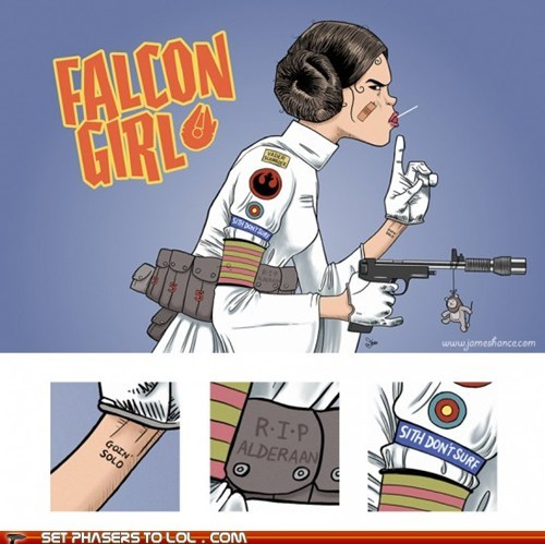 alderaan art comics mashup Princess Leia solo star wars tank girl