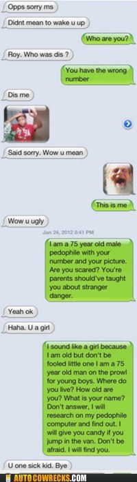 old man,pedophile,picture,wrong number