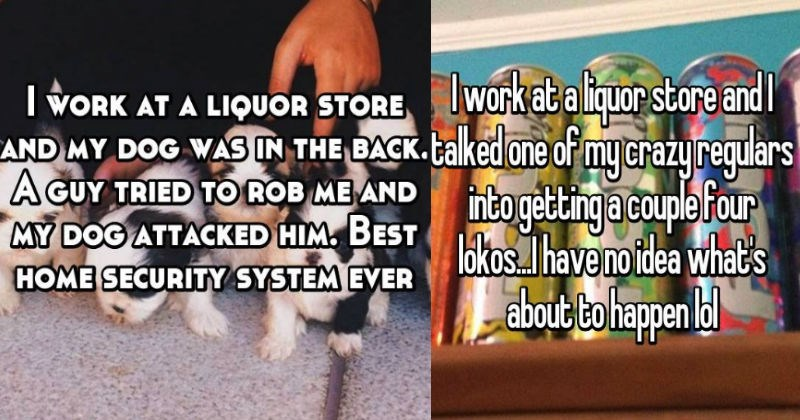 customer service crazy drinking wtf employee cringe story liquor - 5742085