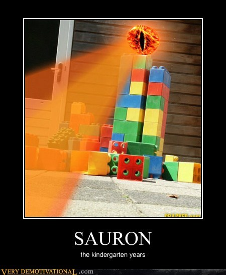 eye hilarious kid lego sauron