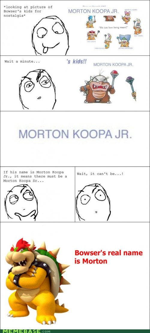 bowser,kids,mario,morton,Rage Comics,video games