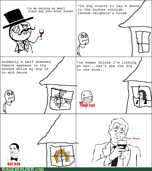 bad poker face creepy dogs sir not bad Rage Comics true story - 5742245888