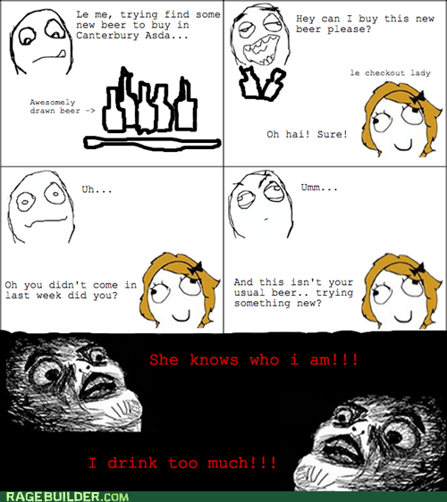 Awkward,beer,Rage Comics,raisin face