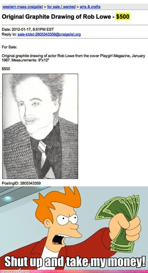art Fan Art funny futurama meme rob lowe wtf - 5742307584