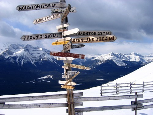 alberta,Canada,getaways,lake louise,north america,sign,signs