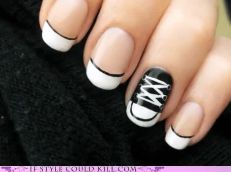 best of the week,chuck taylors,converse,crazy shoes,nail art,nails,sneakers