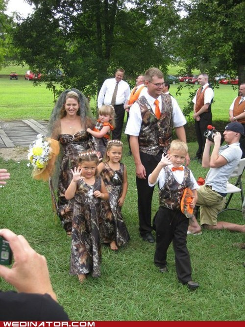 camouflage,bridal party,hunting
