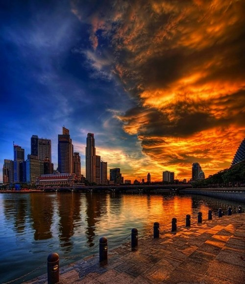 asia,city,city scape,getaways,singapore,southeast asia,sunset